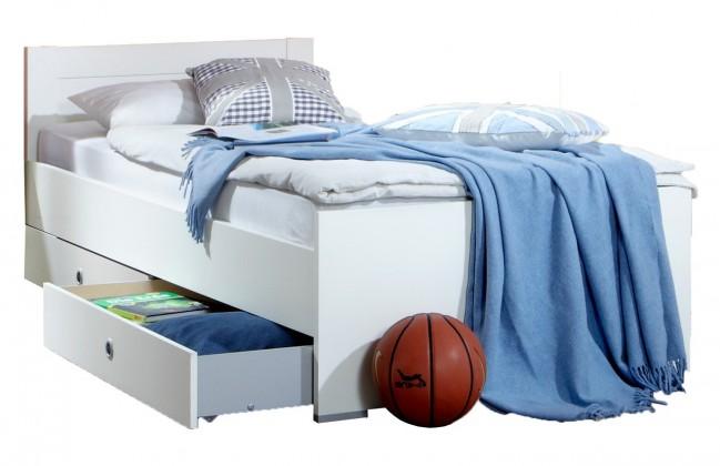 Klasická posteľ Filou - Posteľ 90x200 cm s úložným priestorem (alpská biela)