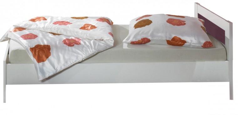 Klasická posteľ Jette - 366299 (alpská biela / ostružina)