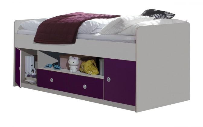 Klasická posteľ Jette - 366467 (alpská biela / ostružina)