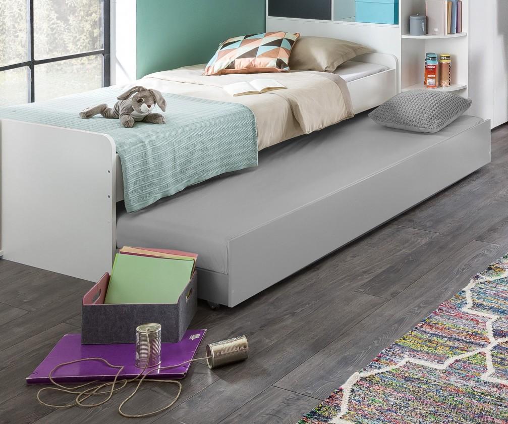 Klasická posteľ Joker - Posteľ 90x200 cm (biela, antracit)