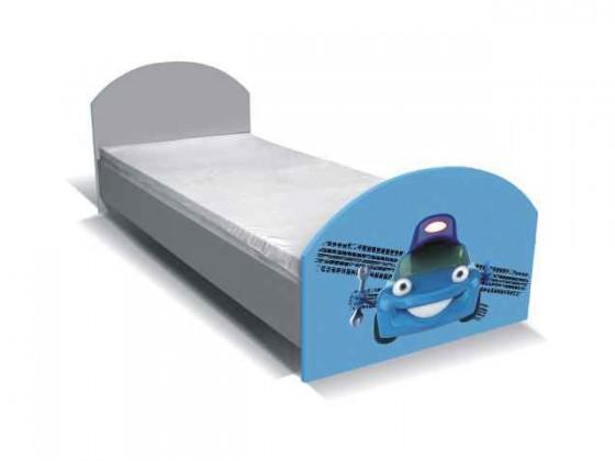 Klasická posteľ Junior mechanik - Posteľ (sivá/modrá)