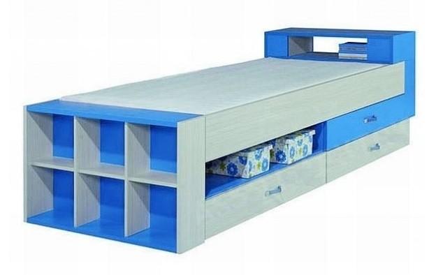Klasická posteľ Komi KM 17 (Modrá)