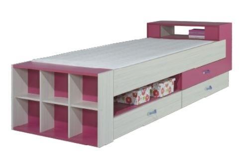 Klasická posteľ Komi KM 17 (Ružová)