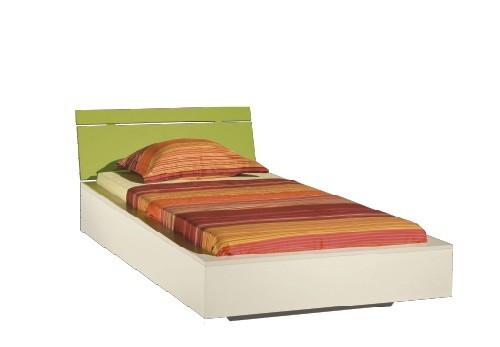 Klasická posteľ LABYRINT LA 22 (krémová/limetka)