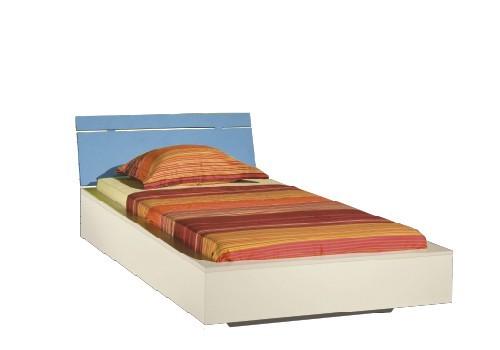 Klasická posteľ LABYRINT LA 22 (krémová/modrá)