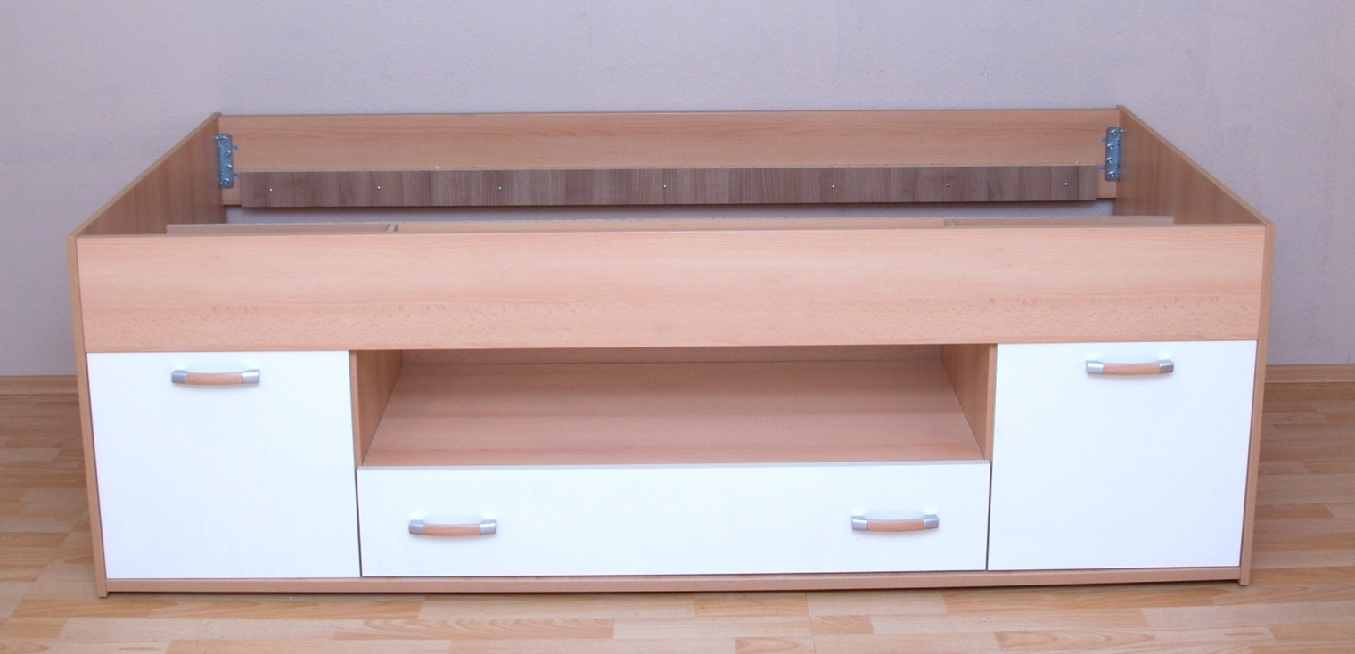 Klasická posteľ LAMIVEX Twingo (Buk/slonová kosť)
