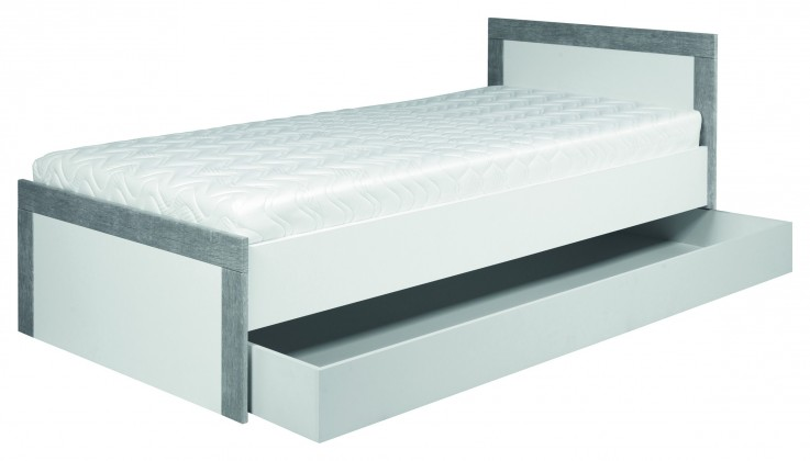 Klasická posteľ Lightning - Posteľ 90x200cm (biela, sivá)