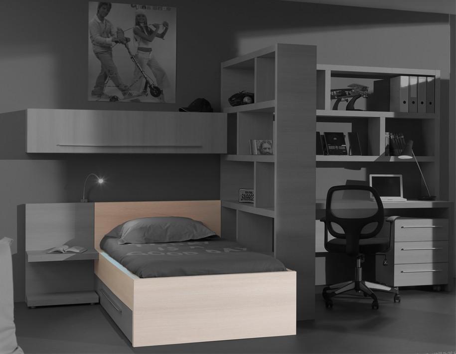 Klasická posteľ Match - posteľ, 90x200 cm (borovica carrizo)