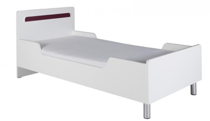Klasická posteľ Nemo 12 (Biela/Fialová)