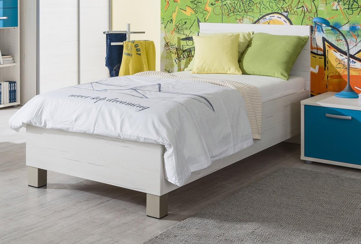 Klasická posteľ Pine Aurélio - Posteľ 120x200 (biela)