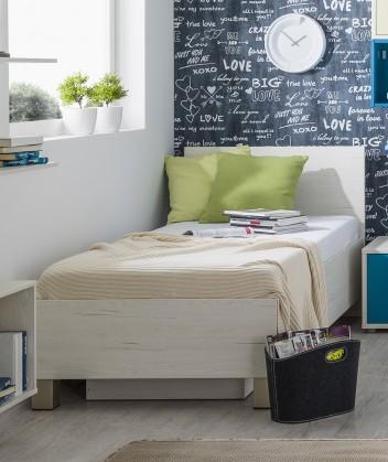 Klasická posteľ Pine Aurélio - Posteľ 90x200, úložný priestor (biela)