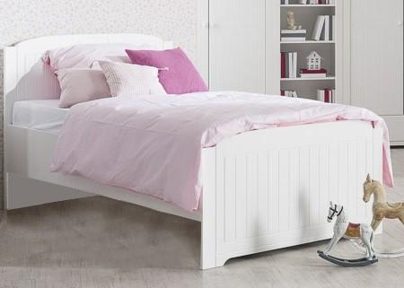 Klasická posteľ Santorini - Posteľ 120x200 cm (biela arctic)