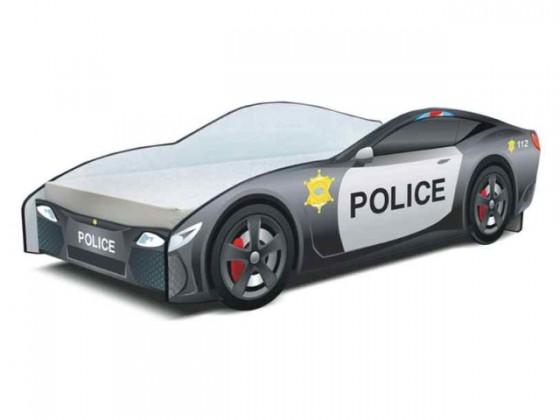 Klasická posteľ Seria Cars - police (policie)