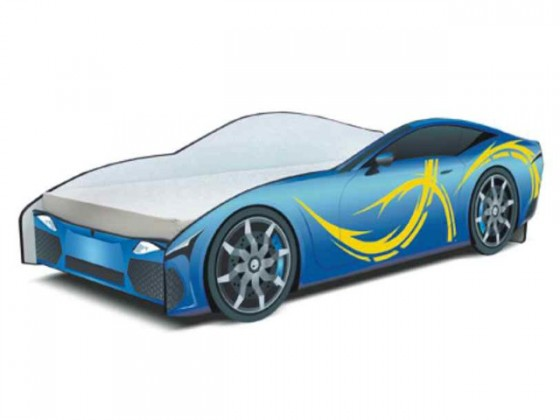 Klasická posteľ Seria Cars - sport blue(modrá)