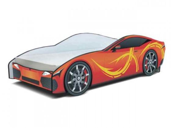 Klasická posteľ Seria Cars - sport orange(oranžová)