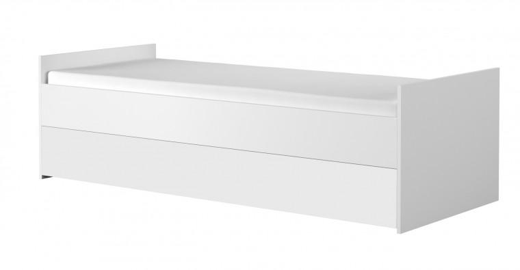 Klasická posteľ Simba 15(korpus biela/front biela a zelený medvedík)