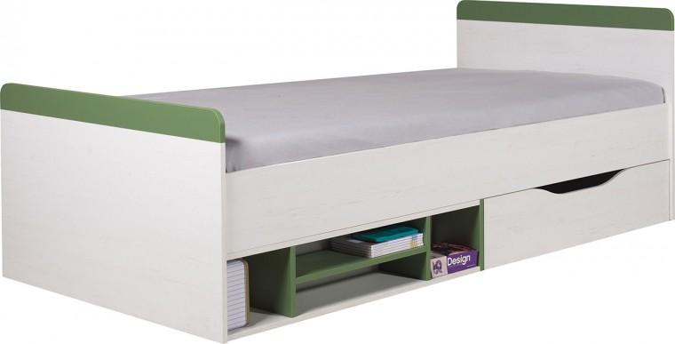 Klasická posteľ Stone - Posteľ ST14 P/L (biela, zelená)