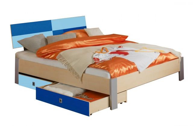 Klasická posteľ Sunny - Posteľ, 140x200, s úložným priestorom (námornícka modrá)