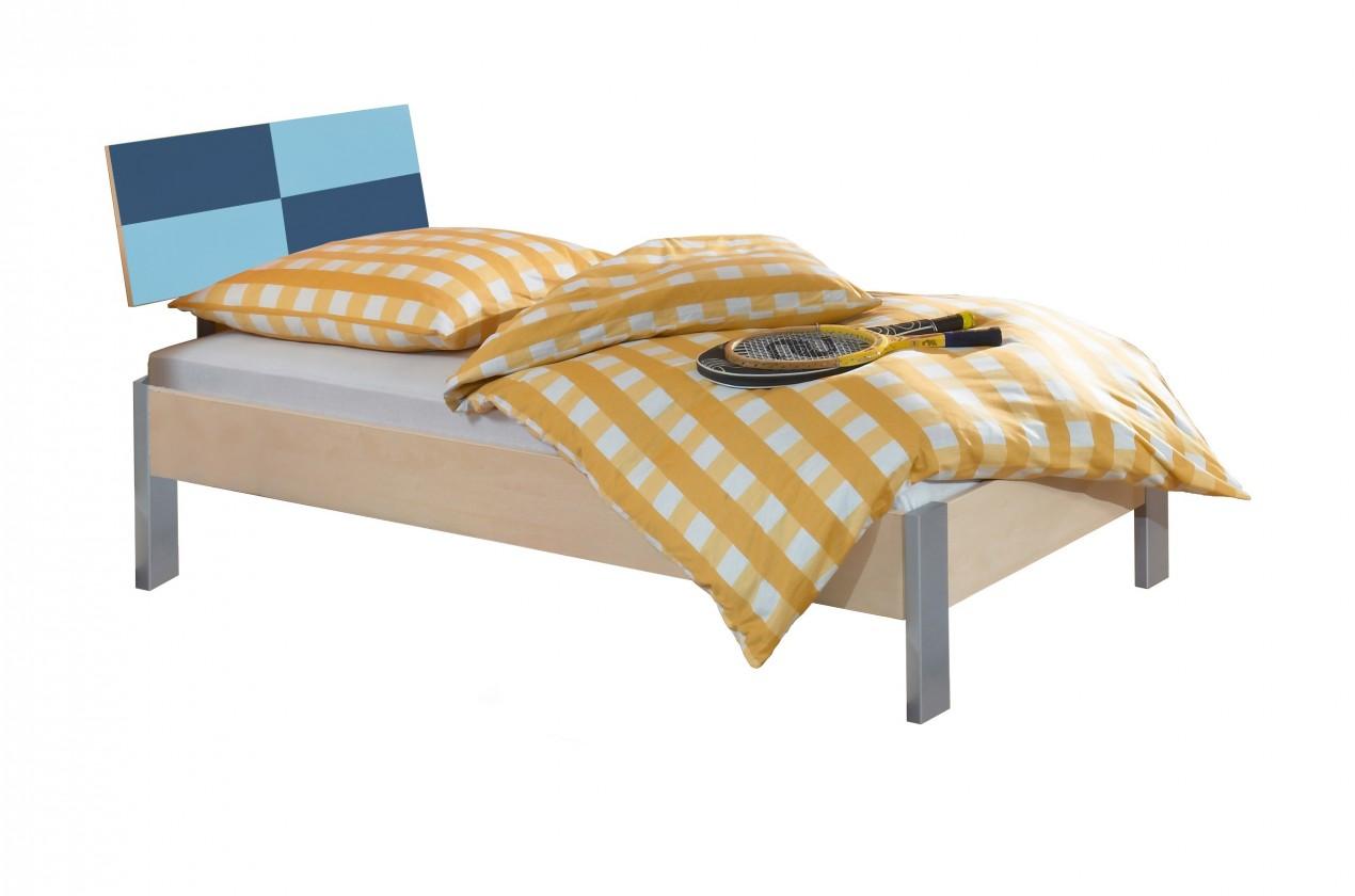 Klasická posteľ Sunny - Posteľ, 90x200 cm (námornícka modrá)