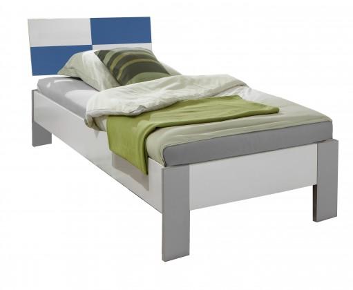 Klasická posteľ Sunny - Posteľ, 90x200cm (alpská biela s modrou)