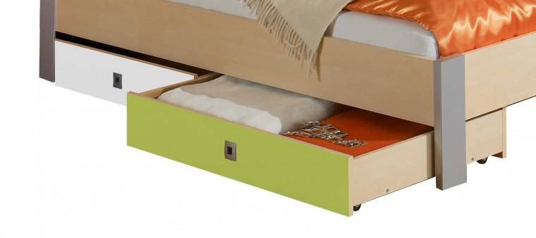 Klasická posteľ Sunny - Úložný priestor (zelené jablko/alpská biela)