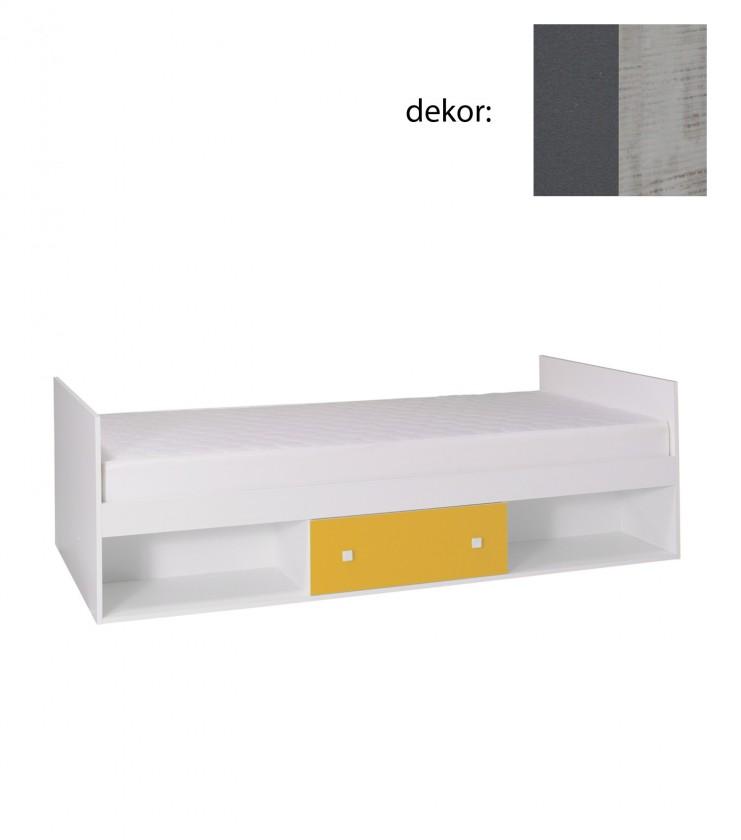 Klasická posteľ Tommy 20 - Posteľ, s matracom (sivá/enigma)