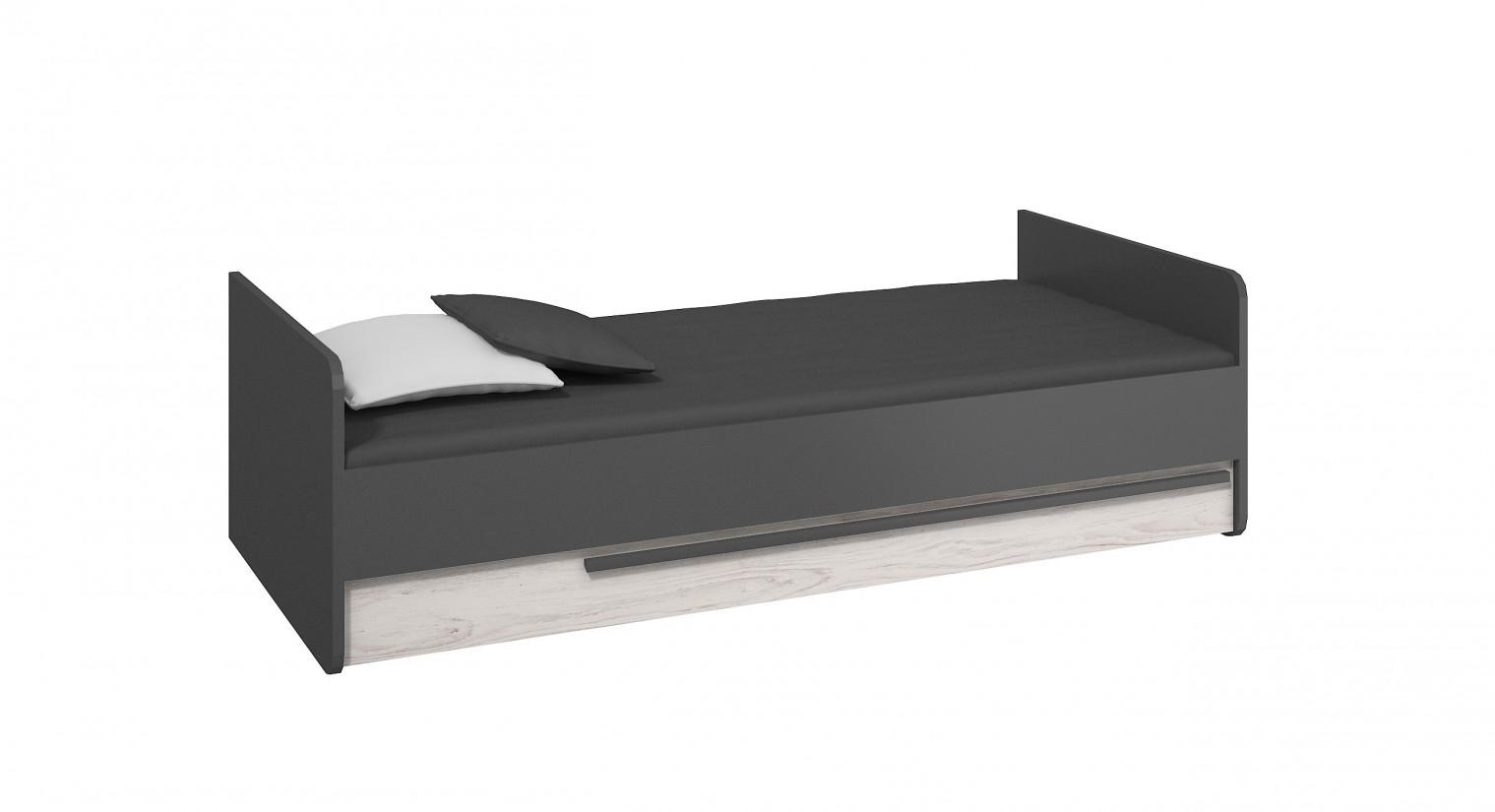 Klasická posteľ Trend - Posteľ (grafit, borovica andersen)