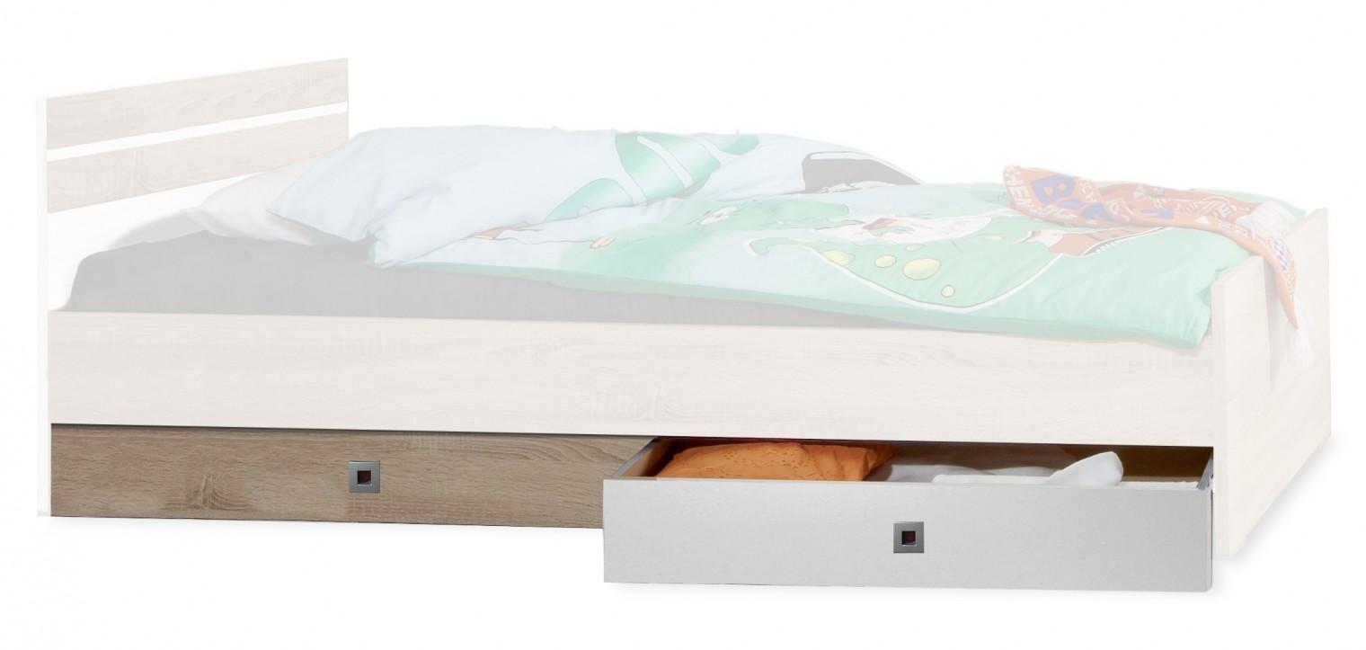 Klasická posteľ Úložný priestor pod posteľ Game (biela, dub)