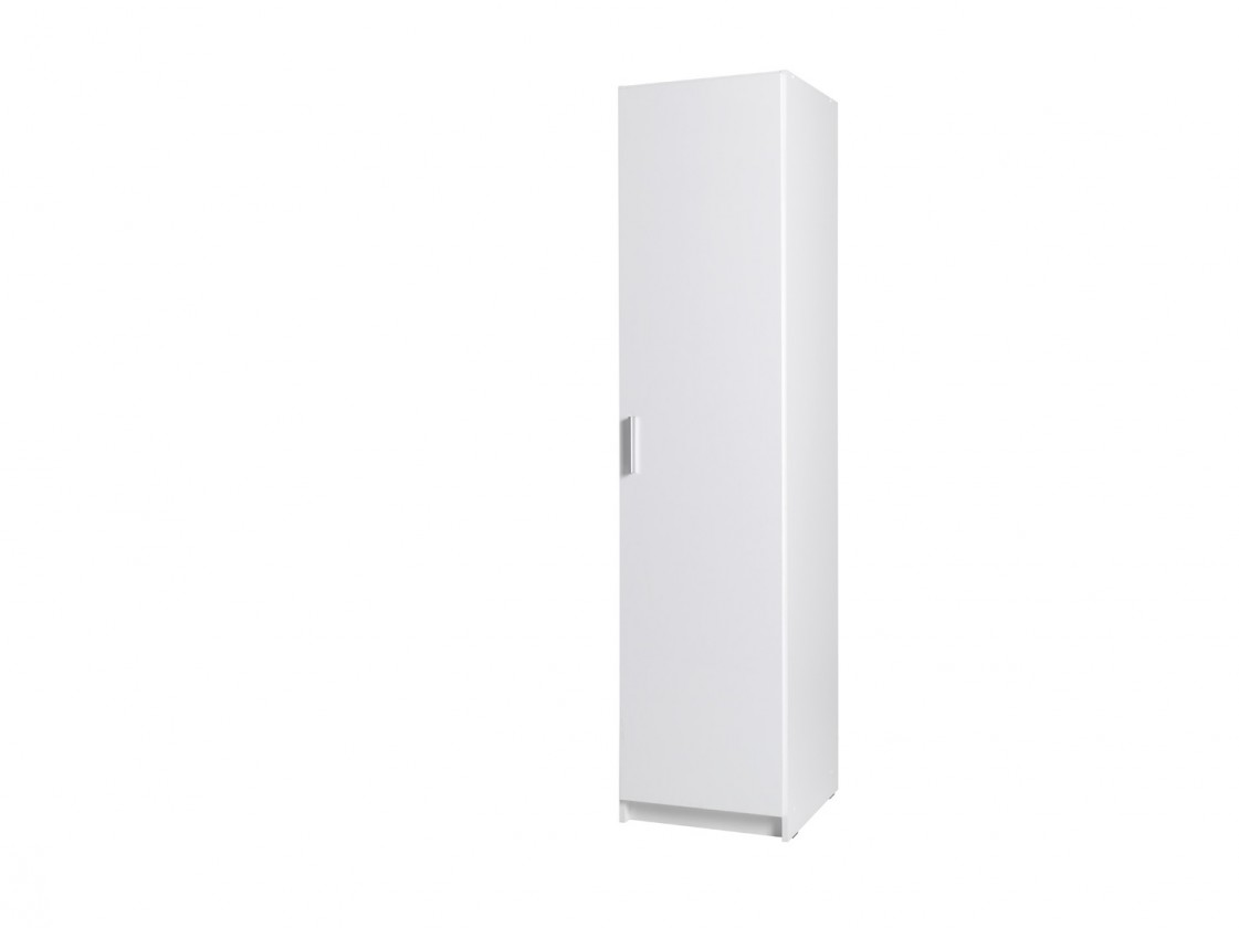 Klasická Skriňa Snow - 1D (biela/biela vysoký lesk)