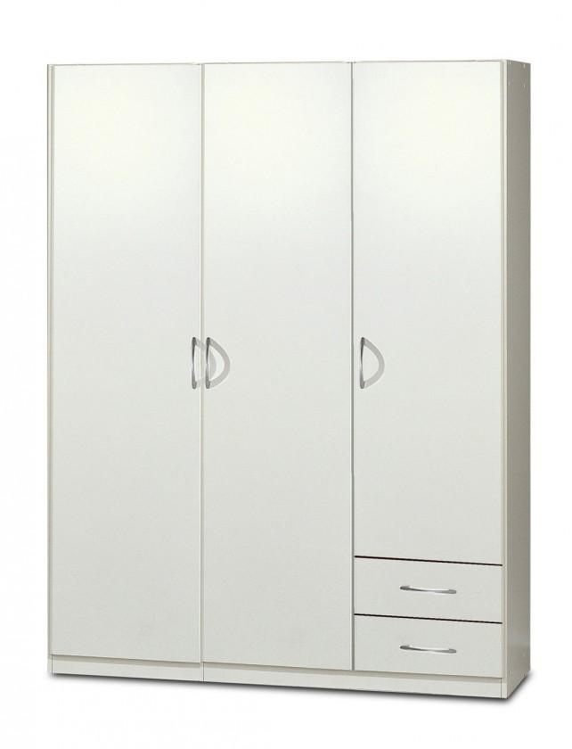 Klasická Sprint - skriňa 135 cm,3x dvere,2x police (alpská biela)