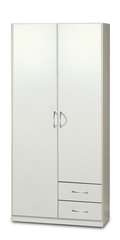 Klasická Sprint - skriňa 90 cm,2x dvere,2x zásuvka (alpská biela)