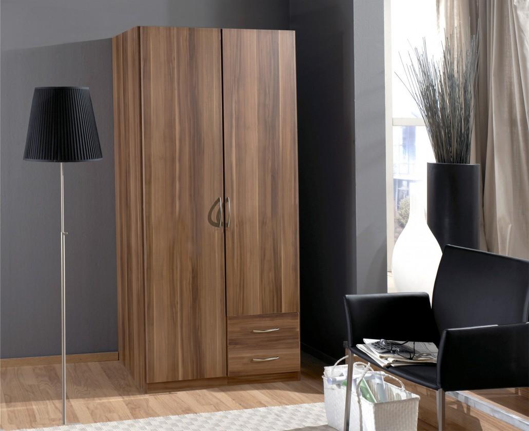 Klasická Sprint - skriňa 90 cm,2x dvere,2x zásuvka (francúzsky orech)