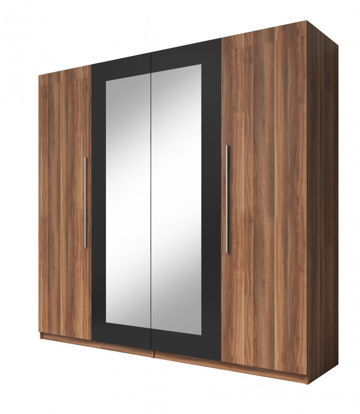 Klasická Vera - Skriňa 228x214x58 cm, klasické dvere, zrkadlo, orech