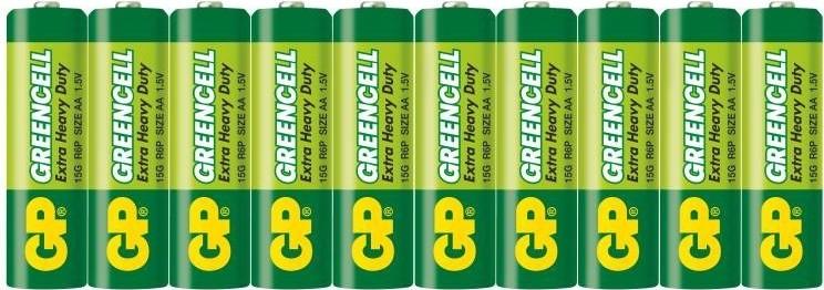 Klasické batérie Batérie GP Greencell AAA 10ks