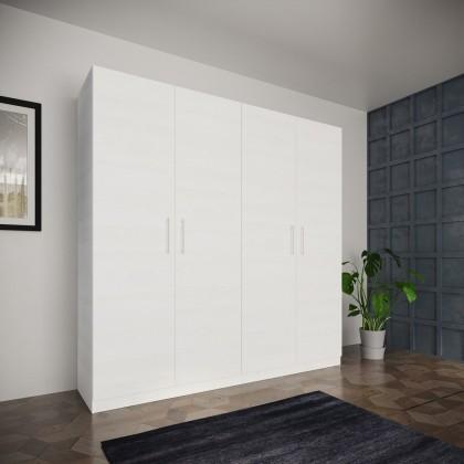 Klasické skrine Šatníková skriňa Paluda - 205x204x52 cm (biela)