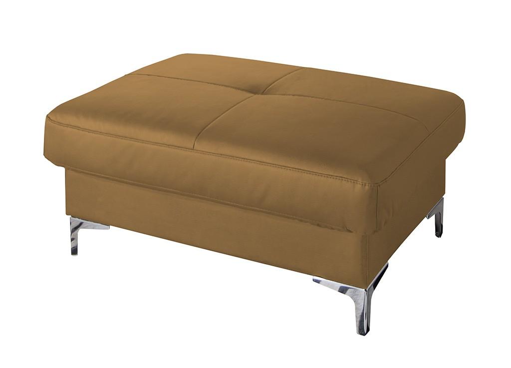 Klasické taburetky Kožená taburetka Sammy obdľžnik béžová