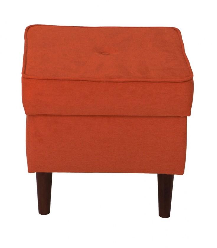 Klasické taburetky Taburetka Flo štvorec oranžová