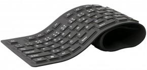 Klávesnica C-TECH FK-01, gélová, flexibilná, čierna, CZ/SK