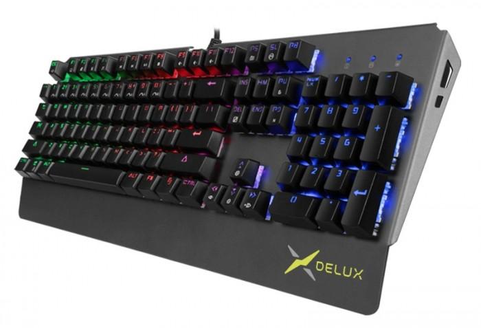 Klávesnica Delux KM06, herná, LED podsvietenie, čierna