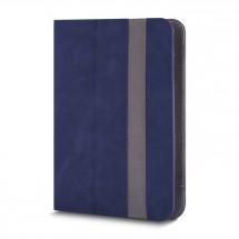 """Knižná puzdro Fantasia na tablet 9-10"""", modrá koža"""