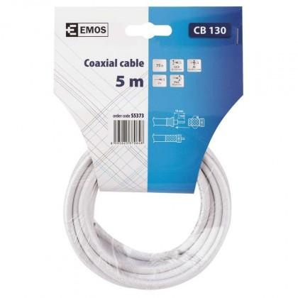 Koaxiální kabely, konektory Emos kábel koaxiálny CB130, 5m S5373