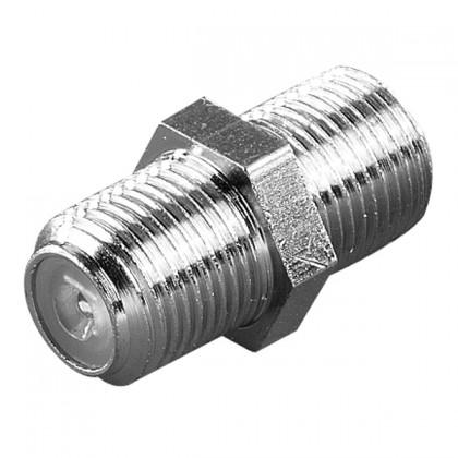 Koaxiálny kábel, konektor F/F spojka Vivanco 44009