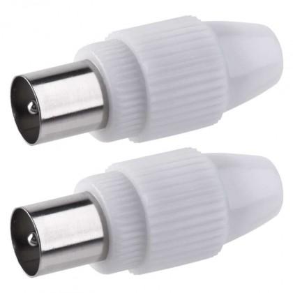 Koaxiálny kábel, konektor Konektor Emos K13312, IEC vidlica, 2ks