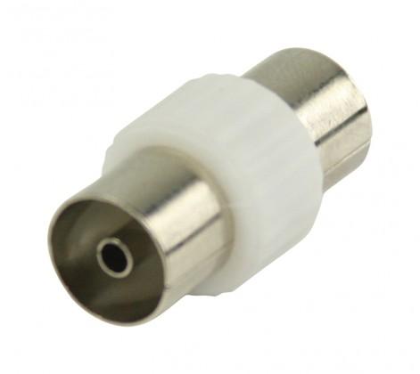 Koaxiálny kábel, konektor Valueline Koaxiálna spojka,koaxiální zásuvka,biela (VLSP40941W)