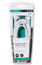 Koaxiálny kábel Vivanco 43034, uhlový, 3m