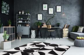 Koberec Black & white (120x170 cm, čierna)