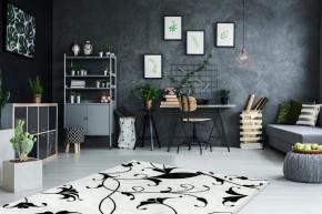Koberec Black & white (160x230 cm, biela)