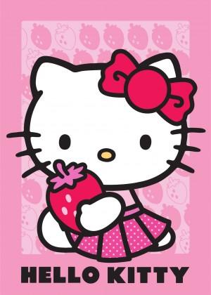 Koberec - Disney Hello Kitty - 19 Strawberry, 95x133 cm (ružová)