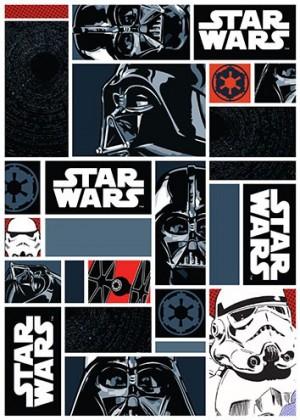 Koberec - Disney Star Wars - 01 Icons, 95x133 cm (čierna)