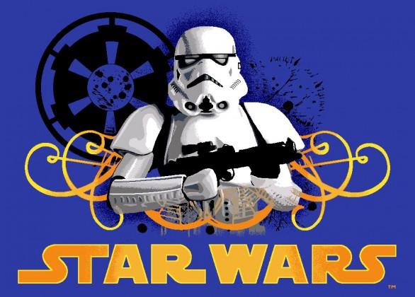 Koberec - Disney Star Wars - 03 Stormtrooper, 95x133 cm (modrá)